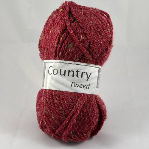 Country tweed 153 bordová