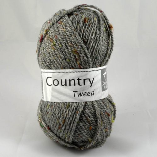 Country tweed 58 flanelová sivá