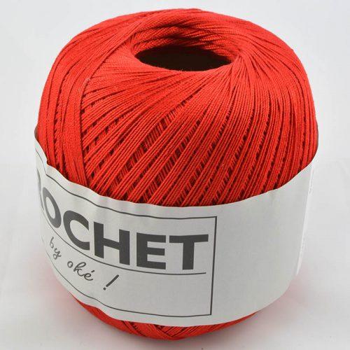 Crochet-4 červená