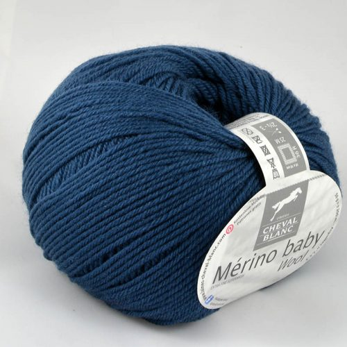 Merino baby 307 Petrolejová modrá