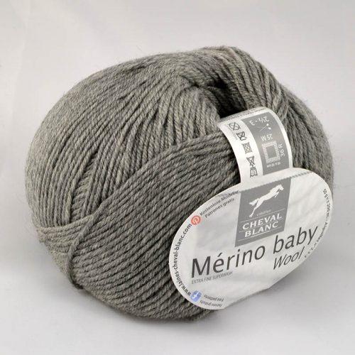 Merino baby 58 Flanelová sivá
