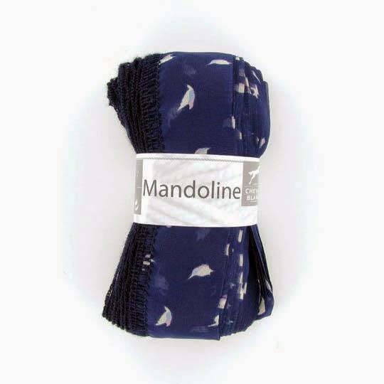 Mandoline 315 Modrá, biely vzor