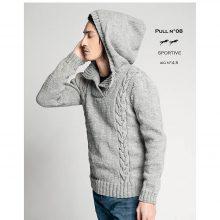 CHB 35/08 Pánský pulovr s kapucí– návod + příze